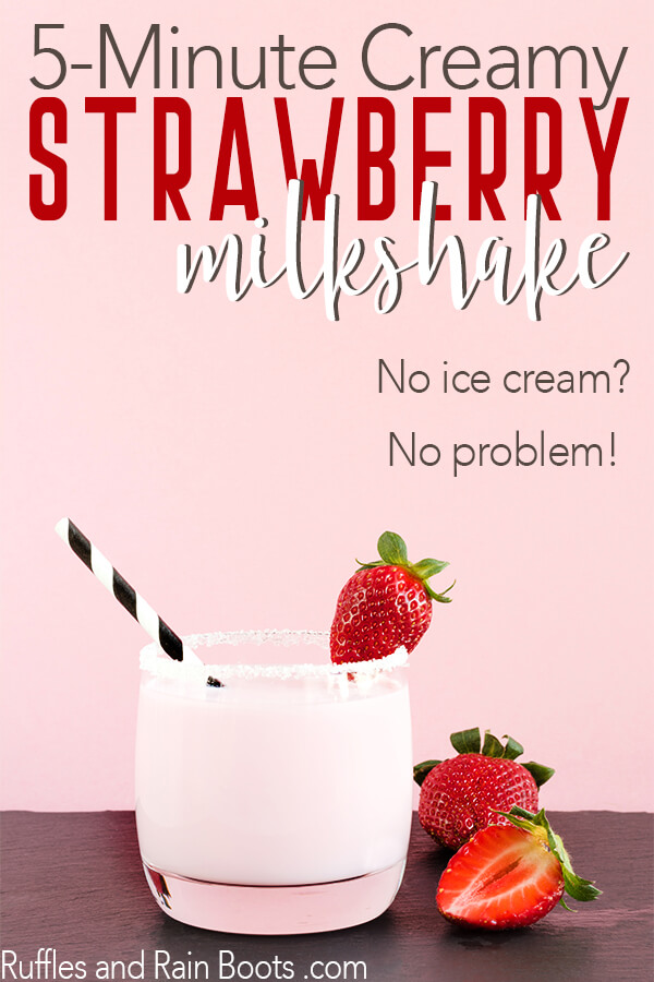 simple strawberry milkshake recipe with no ice cream