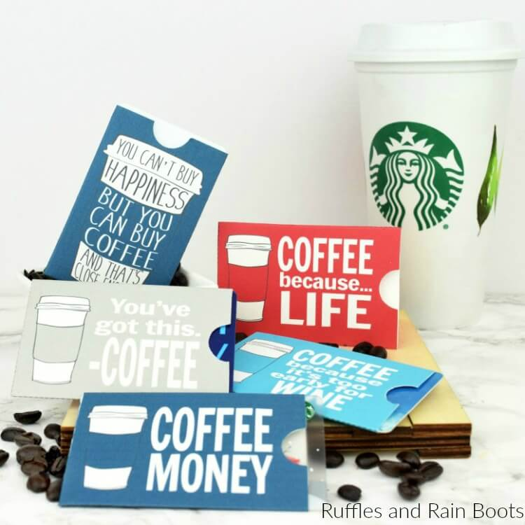 Free Printable Coffee Gift Card Holders