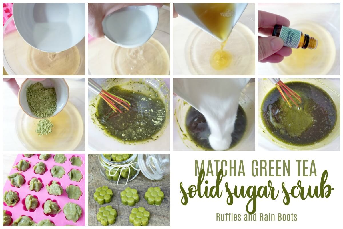 how to make matcha green tea sugar scrub cubes