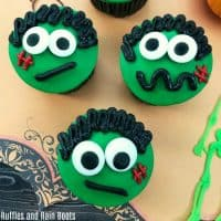 Frankenstein Cupcakes for Halloween – So Stinking Cute!