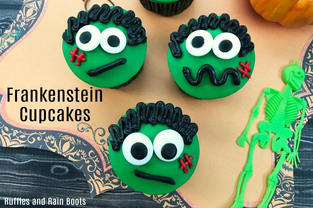Easy and adorable Frankenstein cupcakes for a non-scary Halloween treat