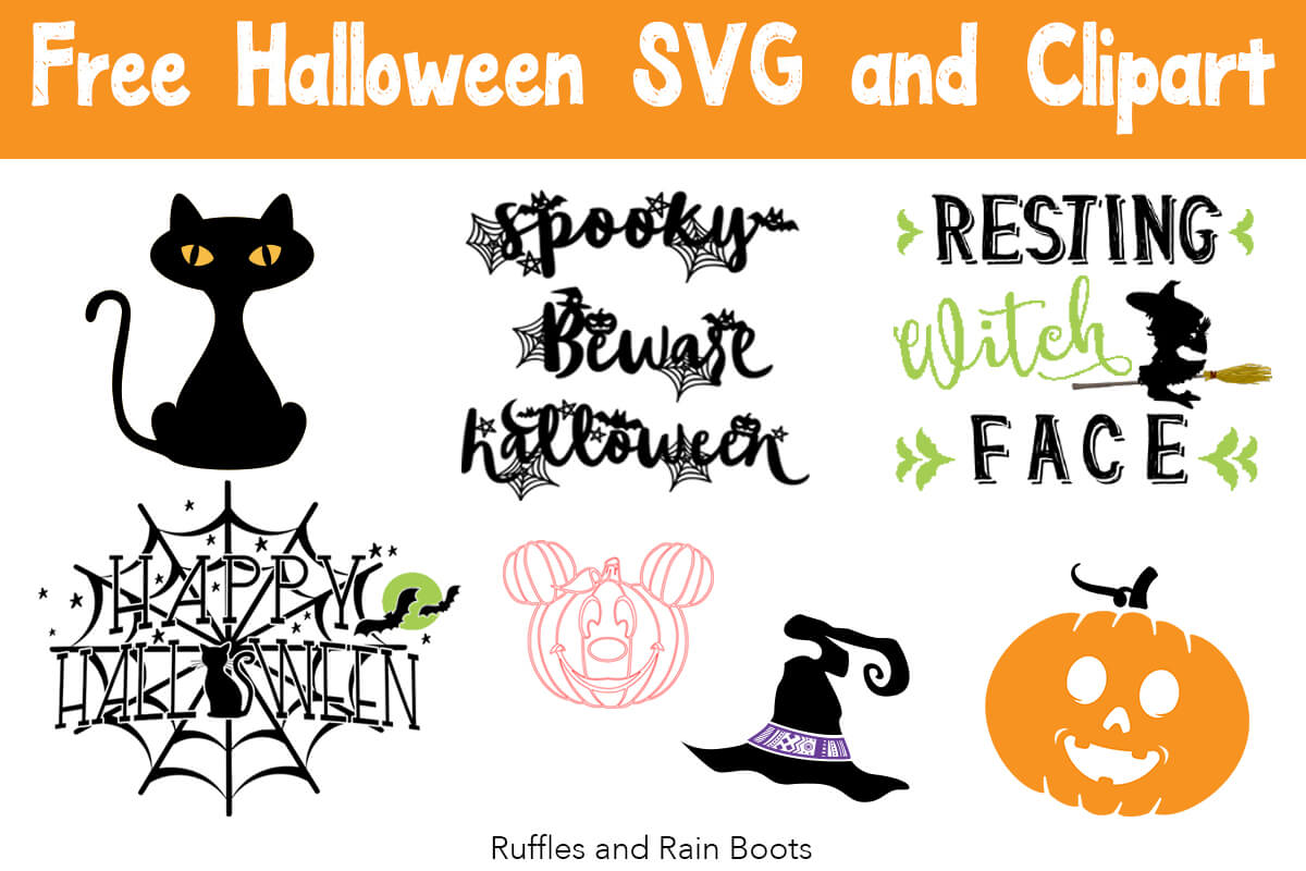 Free Halloween SVG and cut files for digital crafting