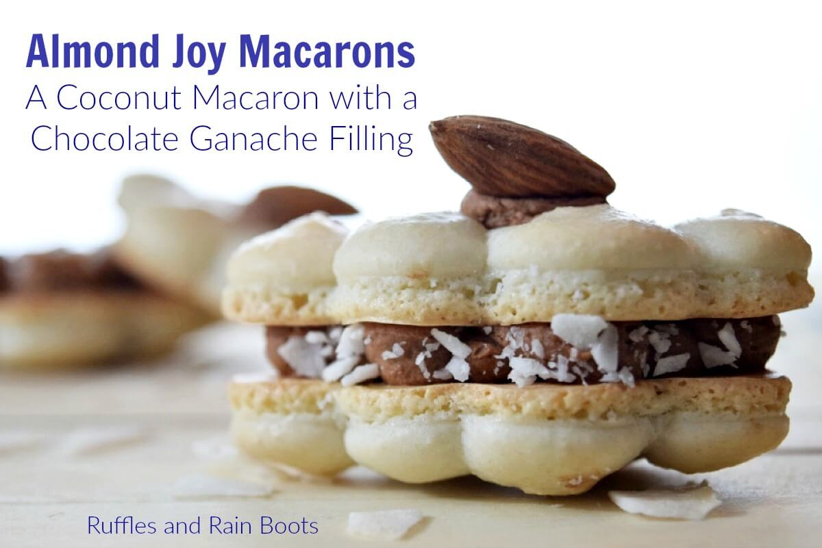 How to make almond joy macarons - coconut chocolate macaron cookies recipe