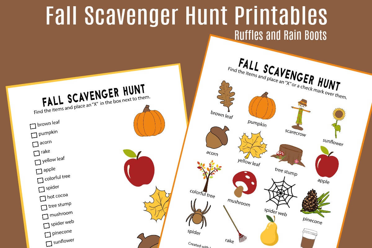 picture about Fall Scavenger Hunt Printable named Tumble Scavenger Hunt Printable (Established of 2)