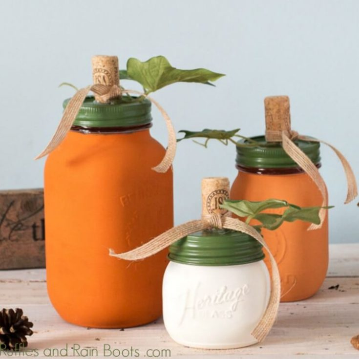 Diy Pumpkin Mason Jar Craft For Fall Decor And Gifts
