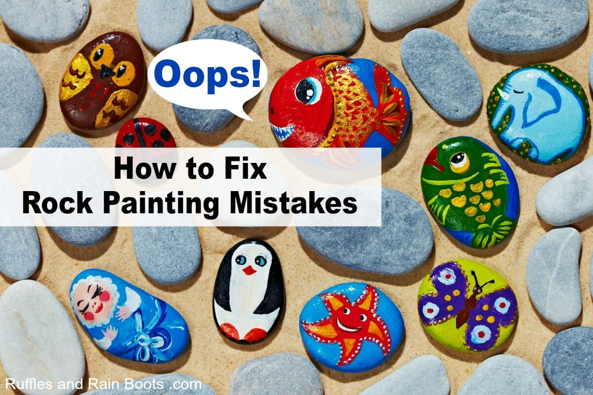 How to fix rock painting mistakes