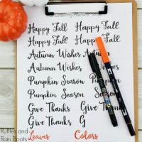 Fall Hand Lettering Practice Sheet and Set