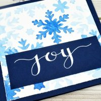 Snowflake Stencil Card with Hand Lettering Accent
