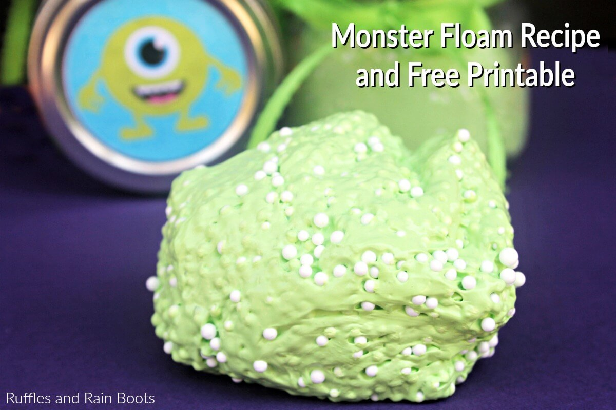 Monster Floam and Printable for Halloween