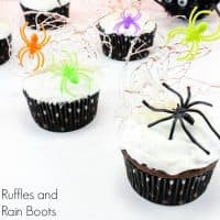 Spun Sugar Spider Web Cupcakes – A Fun Halloween Treat!