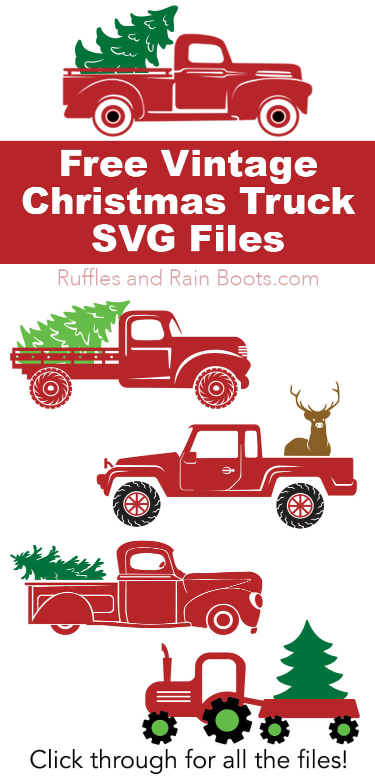 Free Vintage Christmas Truck