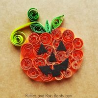 Quilled Pumpkin Craft for Kids
