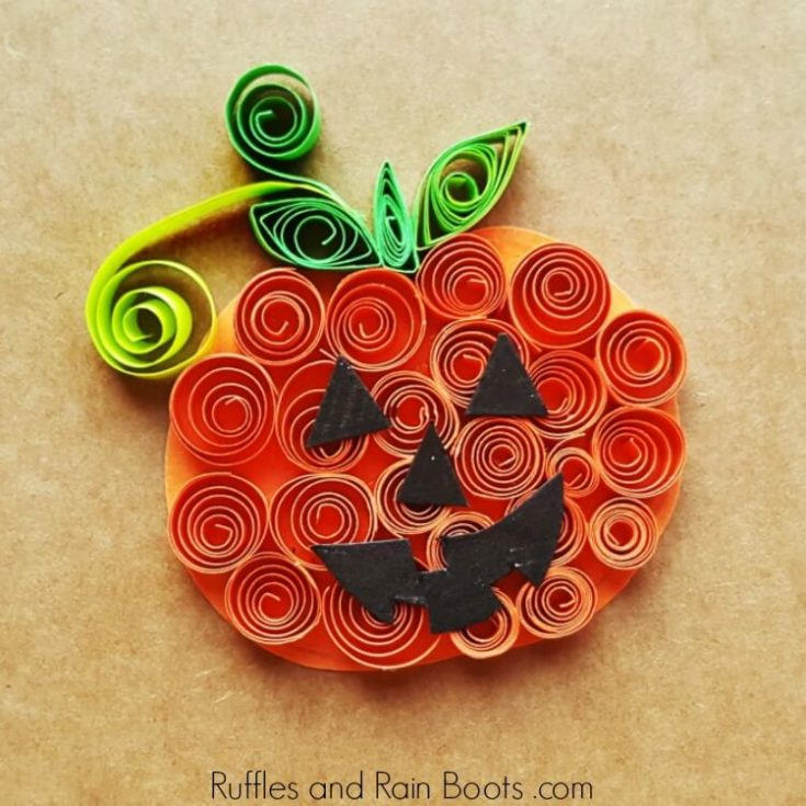 Quilled Pumpkin