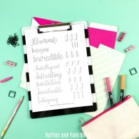 Free Letter I Hand Lettering Practice Sheets
