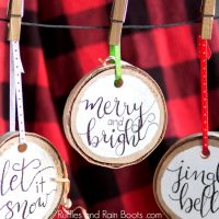 DIY Hand Lettered Ornament – Wood Slices for the Win