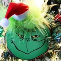 DIY Grinch Ornament Set for a Christmas Tree or Gifts