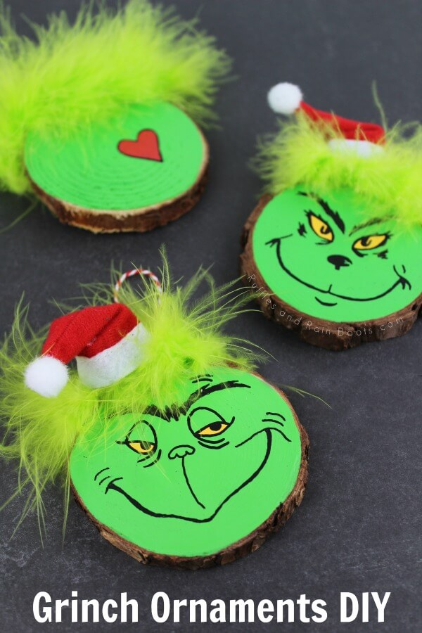 The Grinch Who Stole Christmas Ornament Craft Idea