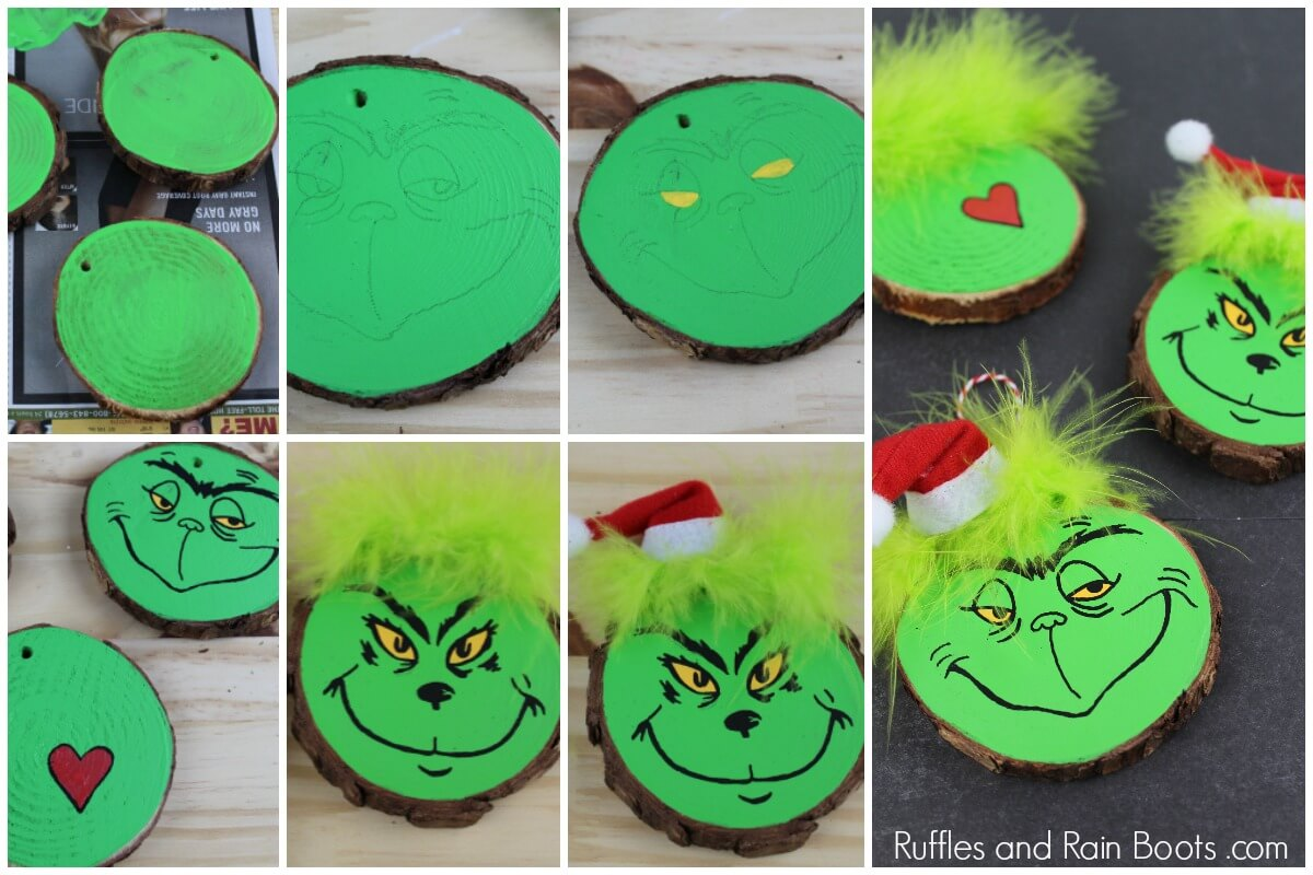 Learn how to make a Grinch ornament for Christmas gifts or presents