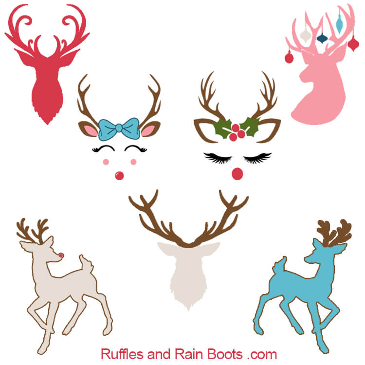 Free Reindeer SVGs and Antler Cut Files