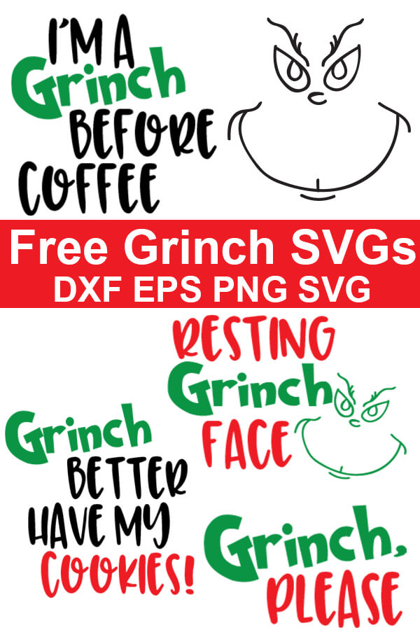 These fun and free Grinch SVG files are perfect for celebrating the movie or for Christmas crafting. Click through to download all the free Grinch cut files! #freesvgs #freesvg #Grinch #TheGrinch #cricut #silhouette