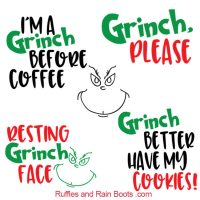 Free Grinch SVGs – Resting Grinch Face SVG and So Many More!