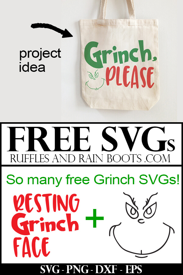 Grinch Please SVG File Free for The Grinch Christmas crafts and gifts