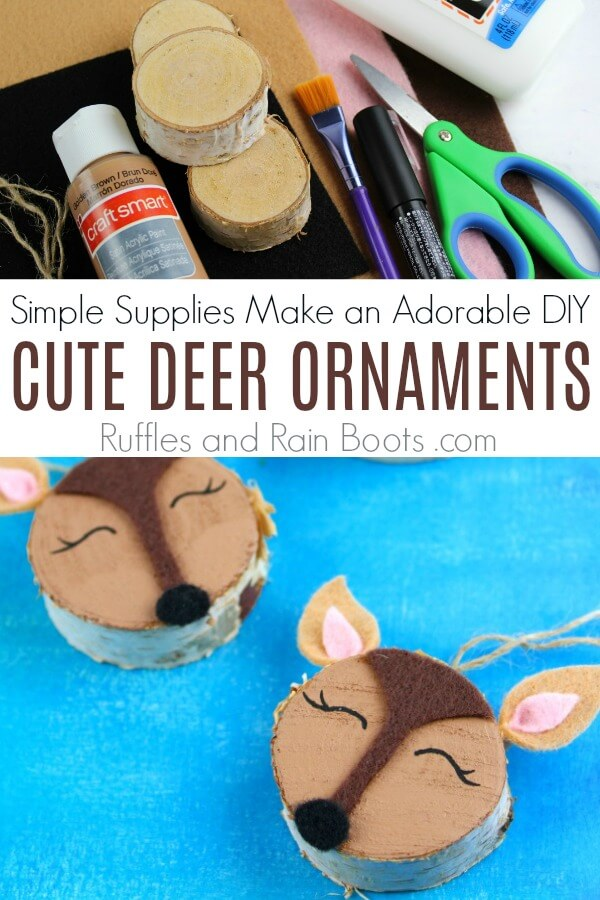 Adorable Woodland Deer Ornaments for a DIY Christmas Craft