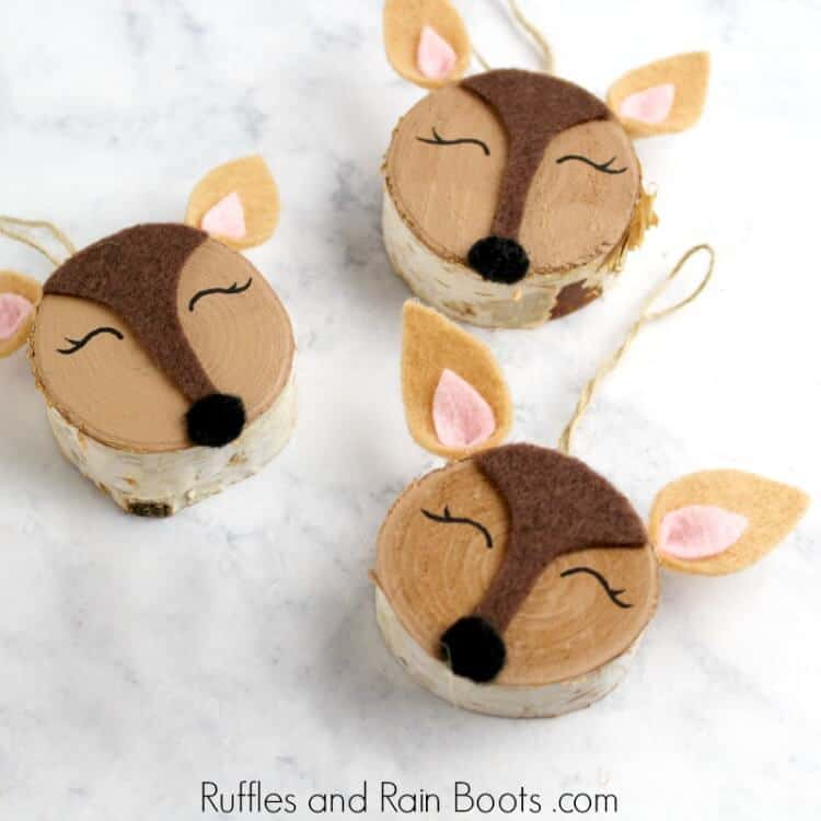 Woodland Deer Ornaments