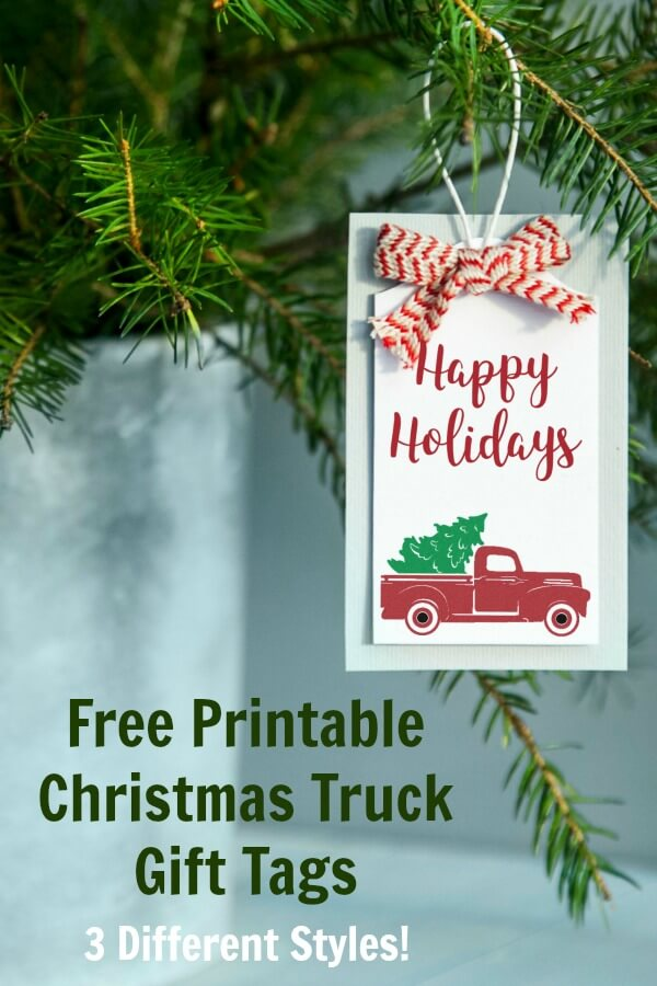 Free Printable Christmas Truck Gift Tags