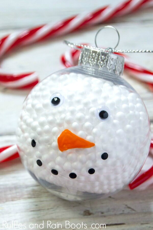 Quick Dollar Store Snowman Ornament A 10 Minute Easy Craft
