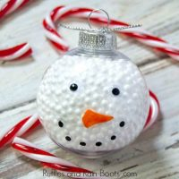Quick Dollar Store Snowman Ornament – A 10-Minute Easy Craft