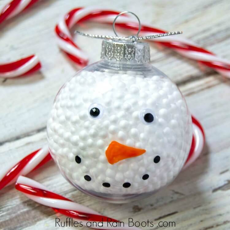 Quick Dollar Store Snowman Ornament - A 10-Minute Easy Craft