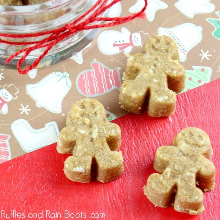 Gingerbread Sugar Scrub Cubes on red background