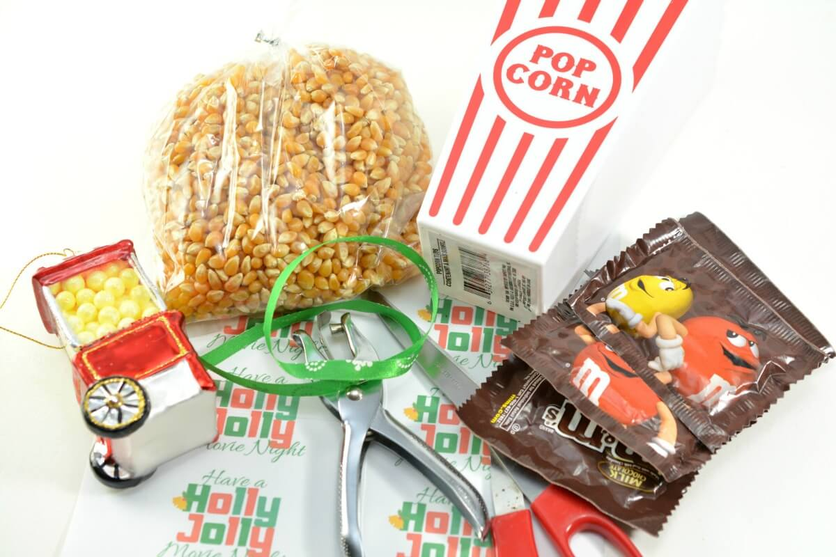Supplies for a Movie Lover's Gift Basket