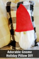 DIY Adorable Gnome Pillow for Easy Christmas Decor