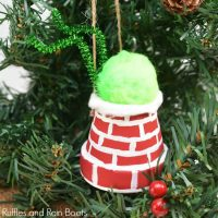 DIY Grinch Ornament – The Grinch is Stuck in a Chimney!