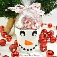 Snowman Painted Clay Pot Gift with Treats