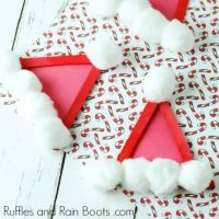 Santa Hat Craft Stick Ornament – Christmas Craft for Kids