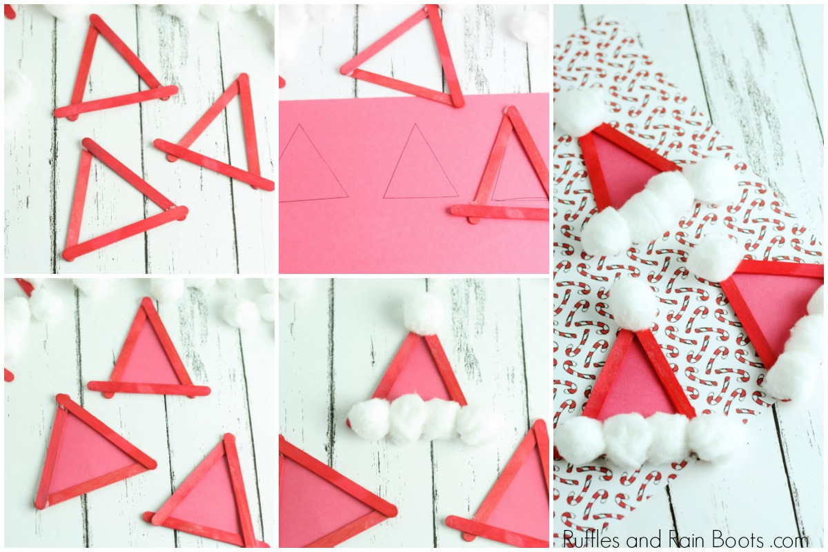 How to Make a Santa Hat Ornament Tutorial