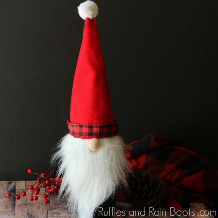 Christmas Gnome Wine Bottle Cover