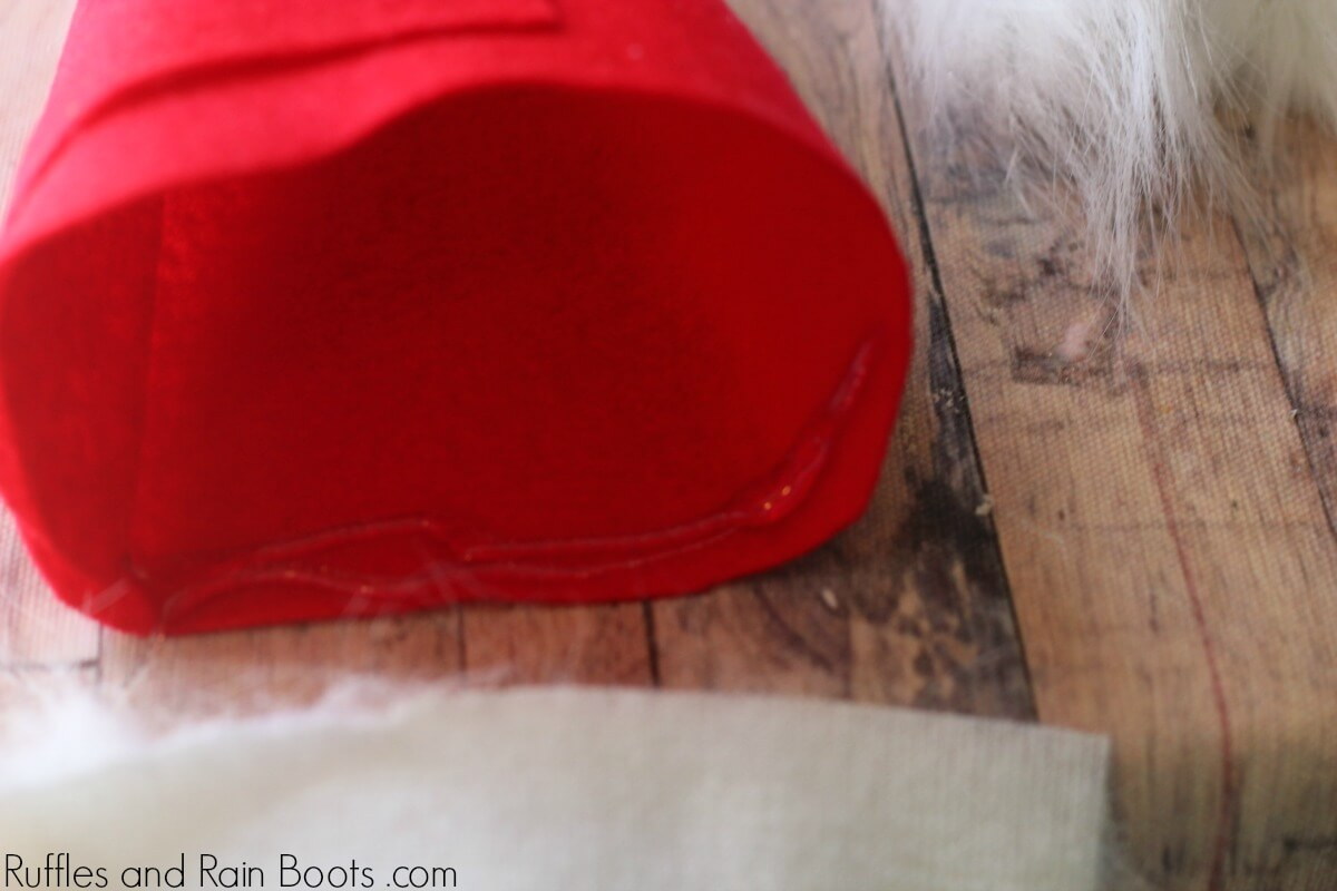 how to make a gnome wine bottle cover