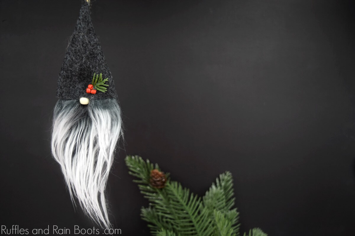 DIY Christmas Ornament tutorial for Swedish gnomes