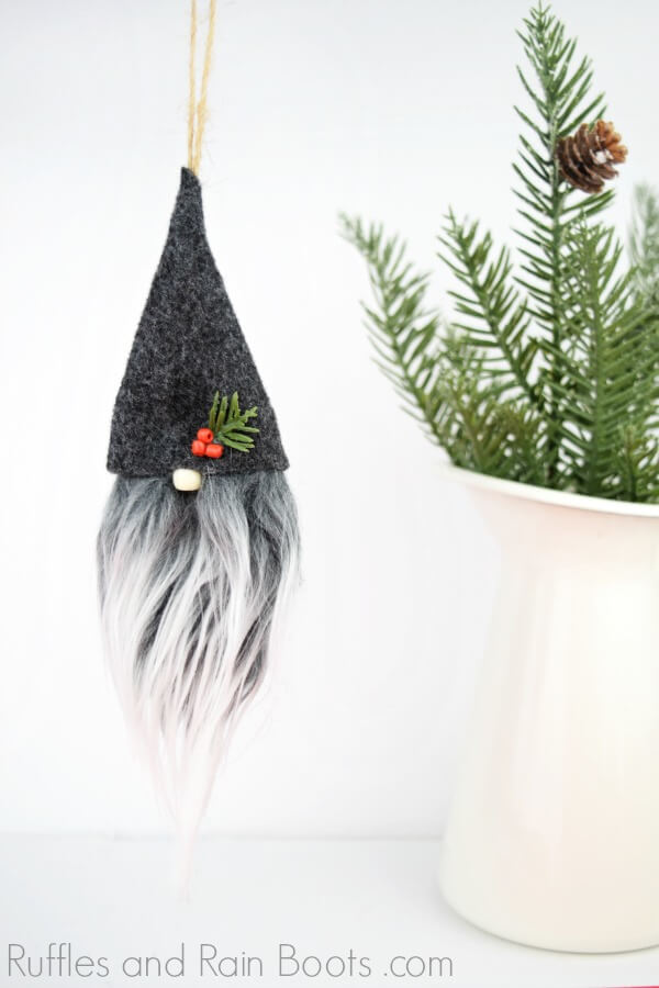 DIY Swedish Gnome Ornament Tutorial