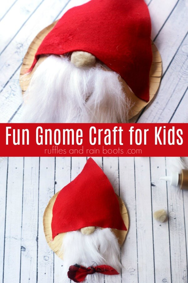 Paper Bowl Gnome Craft for Kids - Fun Christmas Crafts