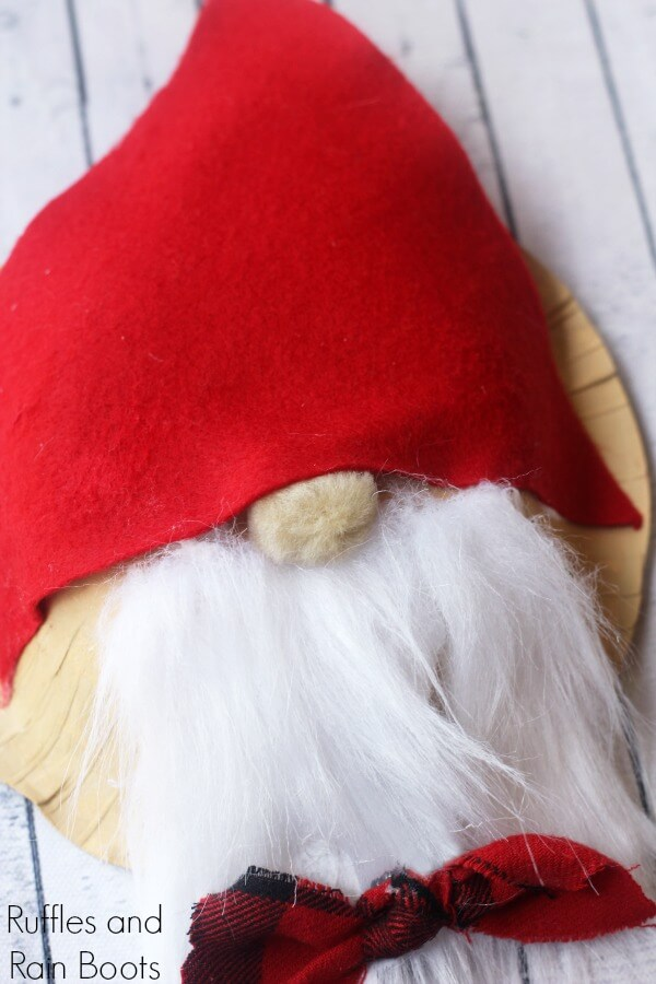 Adorable Swedish Gnome Craft for Kids Using a Paper Bowl