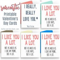 Free Sarcastic Printable Valentines – Cards for Adults
