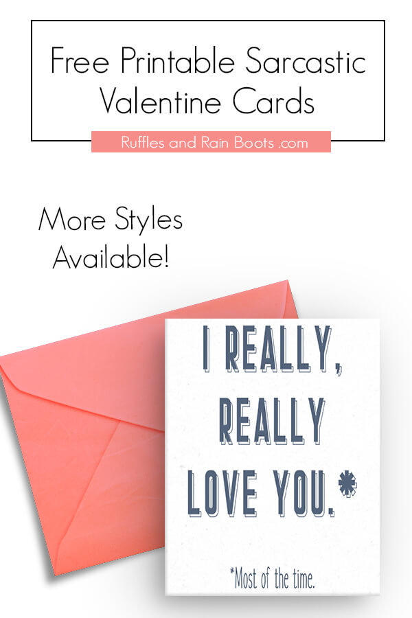 image about Printable Valentine Cards for Husband referred to as Absolutely free Sarcastic Printable Valentines - Playing cards for Grownups
