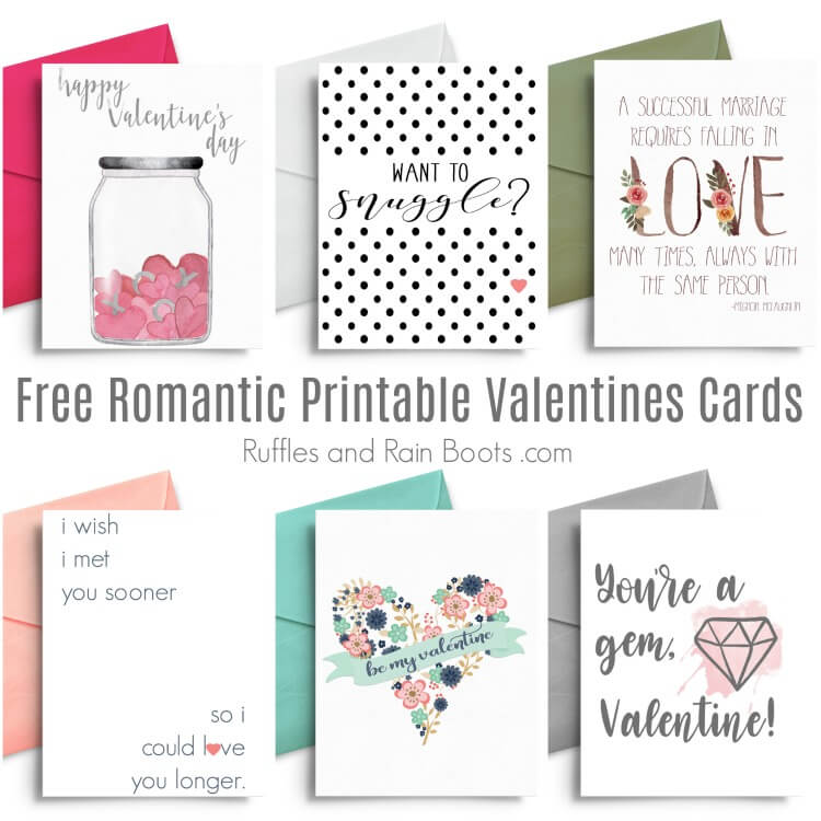 Free Romantic Printable Valentines Cards