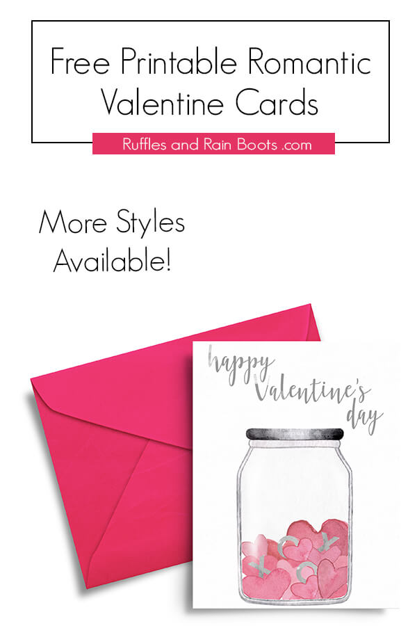 watercolor hearts free printable valentines day card