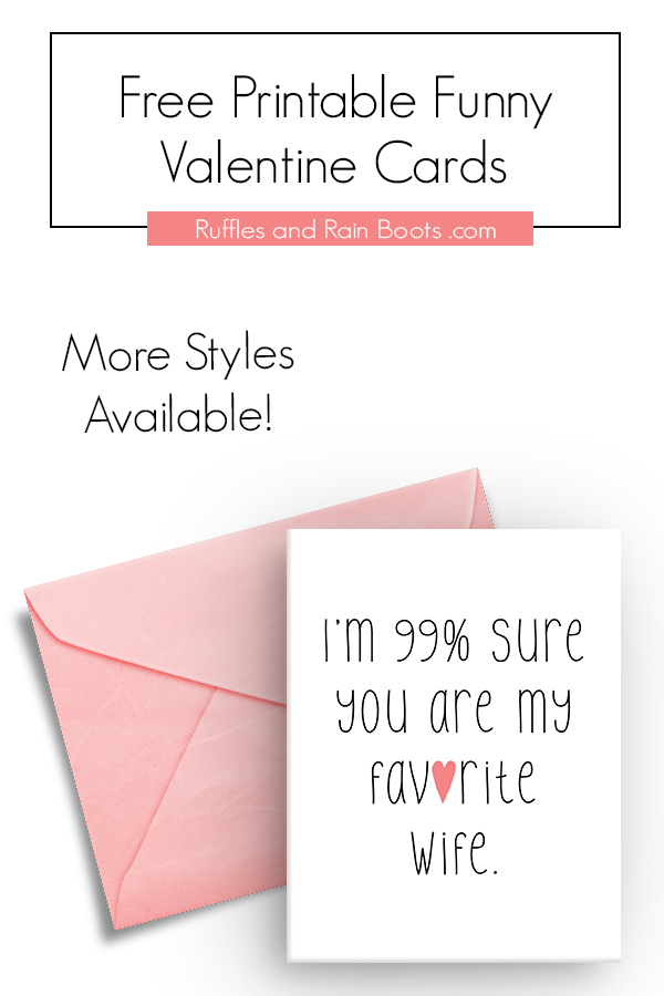 Free Printable Valentines Day Card for Wife